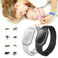 Ultrasonic Anti Mosquito Insect Pest Bugs Repellent Repeller Wrist Bracelet Band