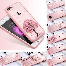 Funda Carcasa Cereza Transparente Case Cover por iPhone 7 Plus 6 s Samsung S6 S7