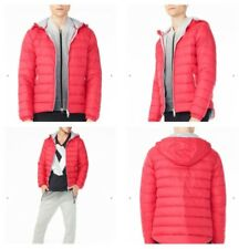 New NWT Armani Exchange AX Mens Hooded DOWN Jacket Coat - RED - Small