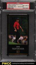 1998 Champions Of Golf Masters Collection Gold Foil Tiger Woods ROOKIE RC PSA 8