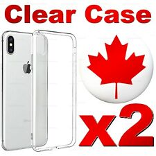 2x iPhone XR X XS 8 7 6 Plus 5 Clear Soft Shockproof Slim Light Case Cover