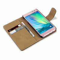 New Black Leather Wallet Flip Mobile Phone Case Cover For Samsung Galaxy Model