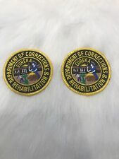 CDCR California Corrections Rahab Uniform Shirt Patches Pair
