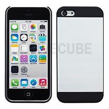 iPhone 5c Hard Case Hülle Cover Bumper Tasche Metalloptik Schutzhülle Silber