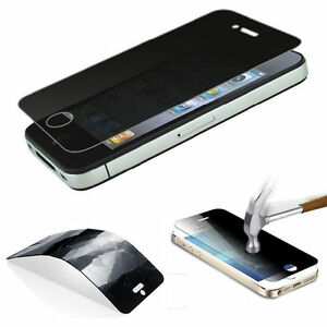 Privacy Anti-Spy Peep Tempered Glass Screen Protector Film For iPhone 5 5S