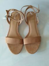 A New Day Women's Size  10W Taupe Faux Suede Winona Ankle Strap Dress Sandals