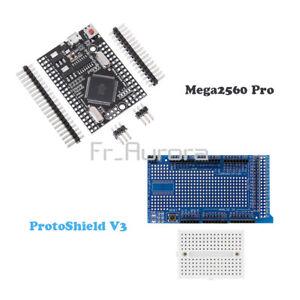 MEGA 2560 Pro USB CH340G ATMEGA2560-16AU/ProtoShield V3 Breadboard For Arduino