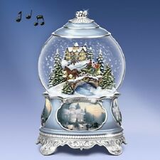 Jingle Bells Water / Snow Globe  Songs of the Season Thomas Kinkade