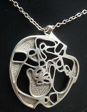 LARGE Scottish Silver EARLY  Pendant - Ola Gorie Orkney h/m 1975 Edinburgh