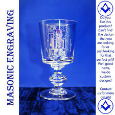Masonic Tracing Board Glass Glass ~ Finely Engraved ~ Bespoke ~