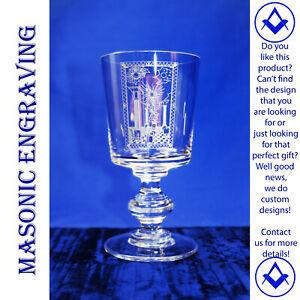Masonic Tracing Board Glass Glass ~ Finely Engraved ~ Bespoke ~