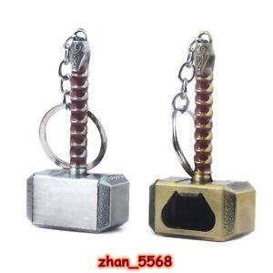 Marvel Avengers Thor's Hammer Mjolnir Alloy Keychain Key Chains Bottle Opener
