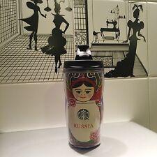 NEW!!! 8oz 237ml Starbucks Russia Moscow Tumbler Holder Matryoshka Nesting Doll
