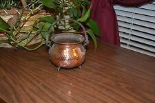 Vintage Copper Pot/Cauldron with handle & feet- patina