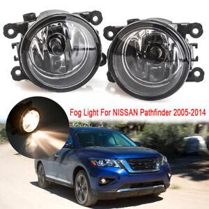 Pair Front Fog Lamps Light For NISSAN Pathfinder R51 2005 2006 2007 2008 2009-14