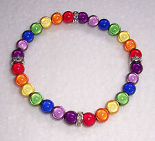 Large Size Miracle Bead Stretch Bracelet Fashion Jools Handmade