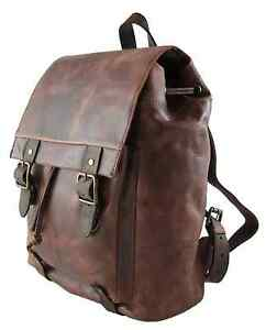Harold's Rucksack Large 38*28*14 cm Leder Backpack Herren & Damen braun 255602
