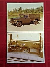 Vintage 2 Military Press Photos Military Truck w/ Slats and Removeable Top 5962