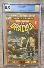 TOMB OF DRACULA #1 (1972) ~ CGC 8.5 ~ 1ST APPEARANCE ~ NEAL ADAMS COVER