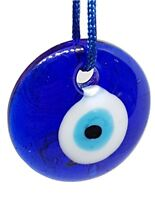Blue Glass Turkish Evil Eye  Glass Charm Home Office Car Sun Catcher GENUINE UK