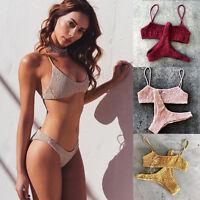 Sexy Women's Bikini Set Bra Push Up Padded Lingerie Swimwear Bathing Beachwear
