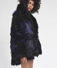 NEW ONE TEASPOON FUR JACKET COAT XS 2 6  $700 WOMEN BLACK GRIZZLY MANOR FAUX FUR