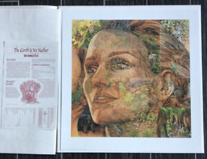 """*Bev Doolittle """"EARTH IS MY MOTHER""""-Wildlife-Animals-Camouflage-Art-Limited Ed"""
