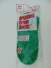 Brushed Orlon BOOTIES  Vintage Venture NEW in Package!  Bright Kelly Green Look