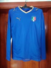 Italy 2007 - 2009 home national football shirt jersey size S PUMA long sleeves