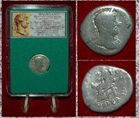 Ancient Roman Empire Coin HADRIAN Felicitas On Reverse Silver Denarius