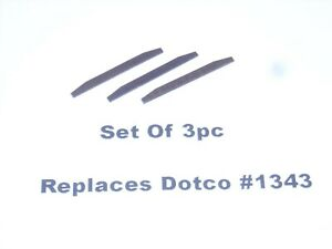 DOTCO Replacement Pencil Grinder Rotor Blades, Replaces Part #1343 (3 Pc)
