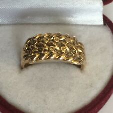 Antique Solid 18ct Gold Hallmarked Keepers Ring Chester 1901 Size P 8g