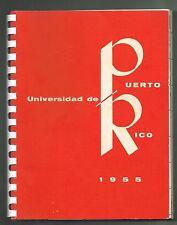 Agenda Universidad de Puerto Rico 1955 Asociacion Exalumnos UPR Rio Piedras