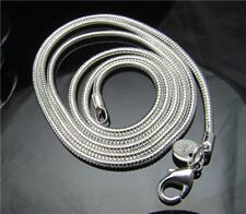 "Wholesale Unisex Silver Plated Snake Chain Necklace  20"" 2mm Wide 10pcs"