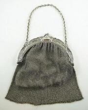 Superb Antique .800 Fine Silver Mesh Purse c. 1900-1910