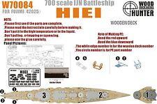 Hunter 1/700 w70084 Madera Deck Ijn Acorazado Hiei para Fujimi