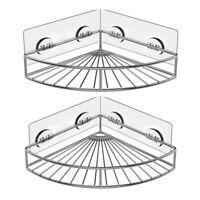 Corner Shower Caddy Stainless Steel Wall Bathroom Shelf Storage Organizer 2-Pack