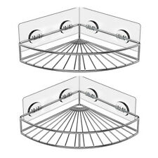 Corner Shower Caddy Stainless Steel Wall Bathroom Shelf Storage Organizer 2-Pack
