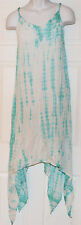 Raviya Tie Dye Shark Bite Cover-Up Slip Dress Sz S Mint (K17)