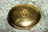 ART NOUVEAU DECO LADY BUST BRASS ORMOLU TRINKET BOX  VANITY VELVET LINED ANTIQUE