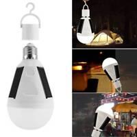 E27 LED Solar charging light bulb 7W/12W Tent Camping Solar Powered Lamp lights