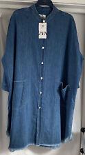 ZARA BLUE DENIM Oversized Dress. Size M