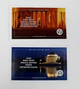 2020-W US West Point Special Edition Proof & Reverse Proof Jefferson Nickels -