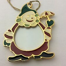 Wallace Cameo Clown Goldplate Picture Frame Ornament #7156