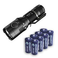 Nitecore MH20 Flashlight XM-L2 -1000Lm w/8x FREE Eco-Sensa CR123A Batteries