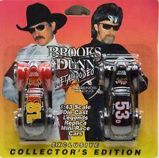 Brooks & Dunn Metal Rodeo Exclusive Mini Race Car Die Cast 1:43 Scale Nip