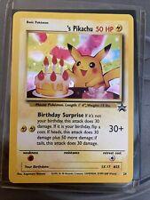 Happy Birthday Pikachu Black Star Promo #24 Holo Pokemon Card 2000 WOTC