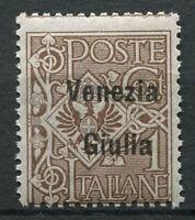 Venezia Giulia 1918 Sass. 19 Nuovo ** 100% 1 c. bruno Soprastampato