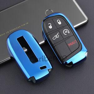 Aurora Blue TPU Car Key Cover For Chrysler 300 Jeep Compass Dodge Durango Dart