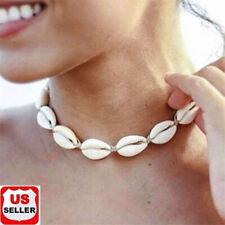 BOHO Beach Bohemian Sea Shell Pendant Chain Choker Necklace Fashion Jewelry -USA